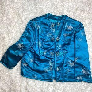 Vintage Chinese silk blazer